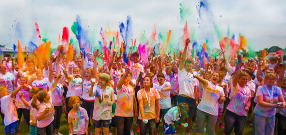 fundraising colour run