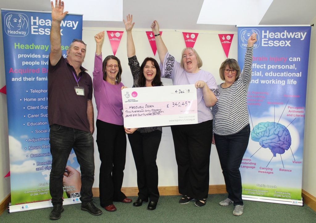 National Lottery funding Headway Essex