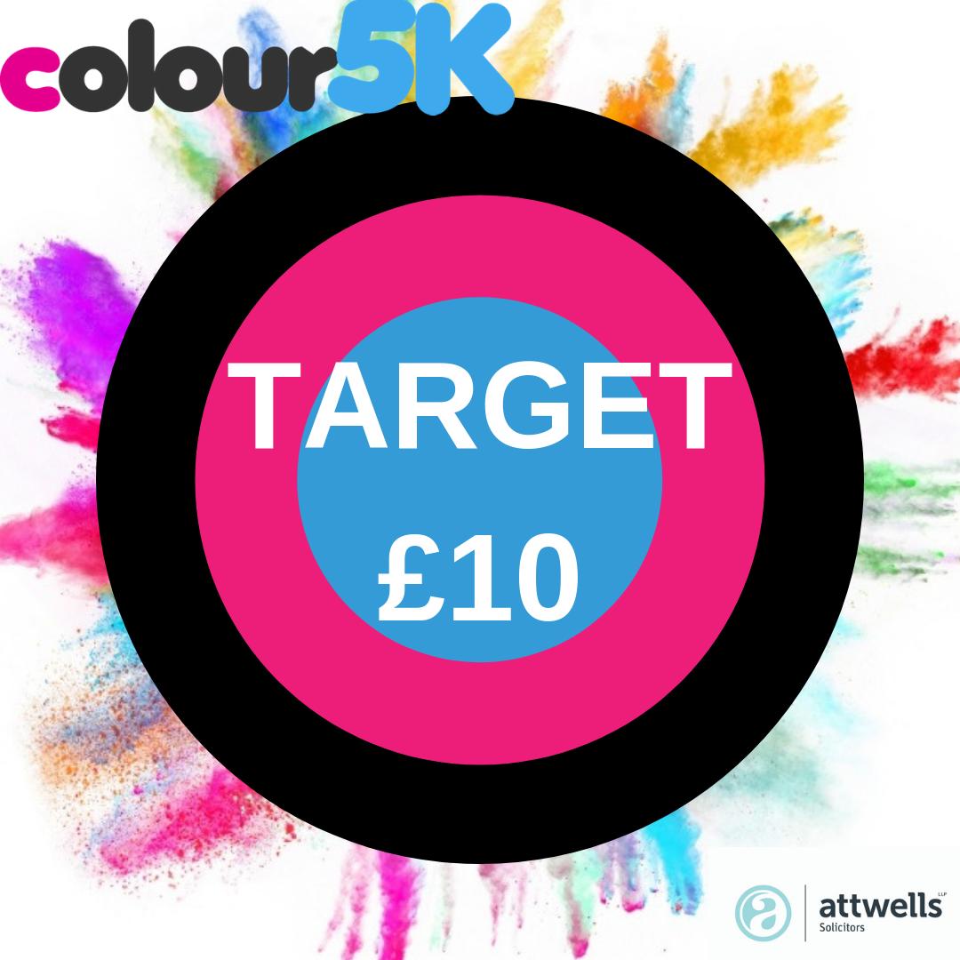 Colour5K £10 Challenge Graphic