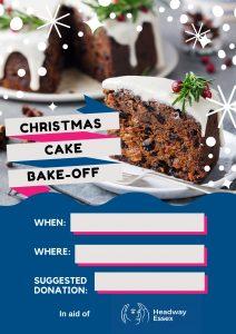 Christmas Cake Bake-Off Poster - Festive Fundraising