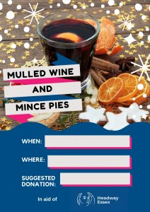 Mulled Wine And Mince Pies Poster - Festive Fundraising