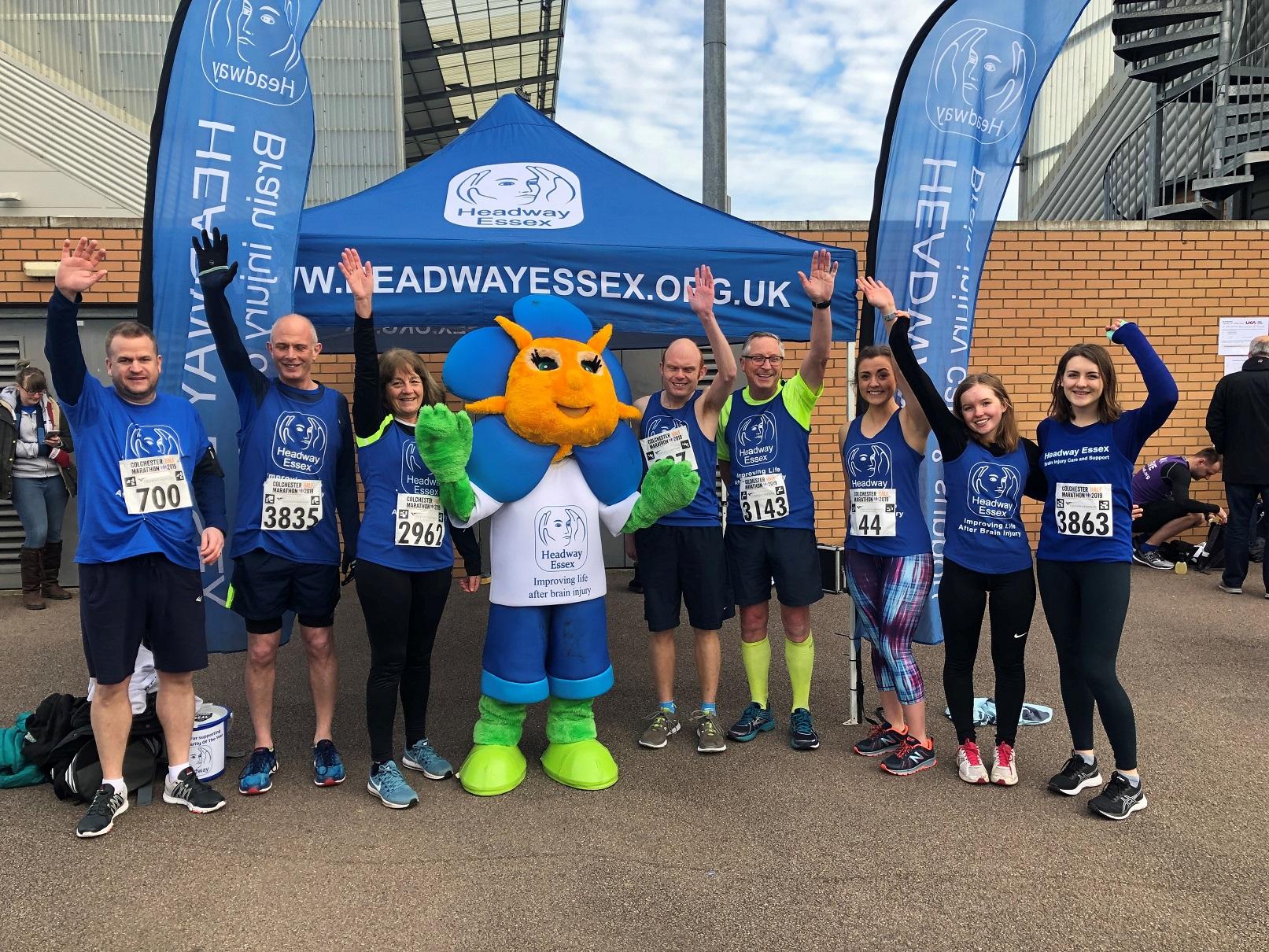 Colchester Half Marathon Group with Frankie